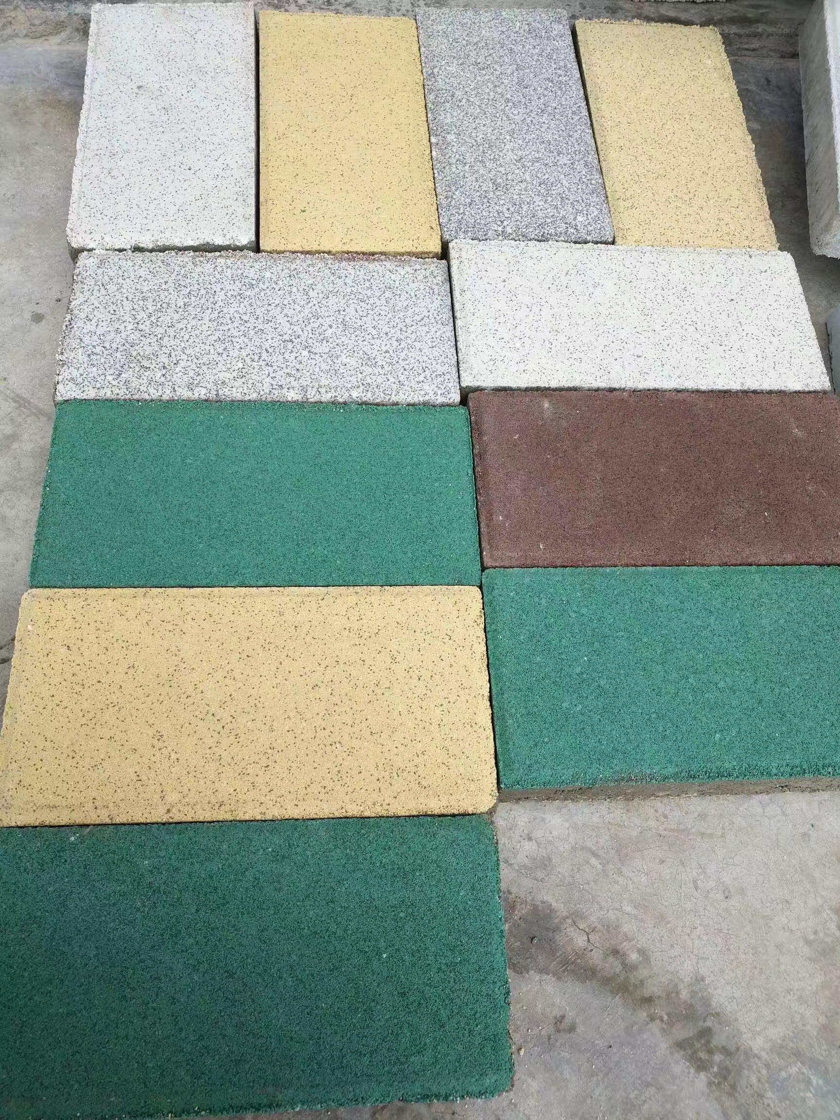 南充海绵体透水砖200X400X60 灰色黄色绿色紫色四种