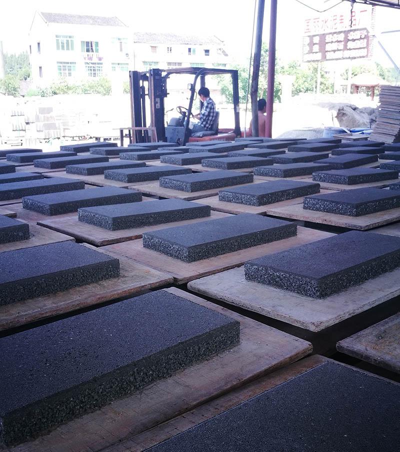 南充海绵体透水砖灰黑色300X600X60