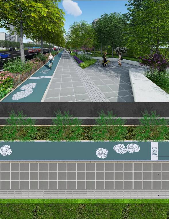 介绍几种人行道透水砖铺设方案